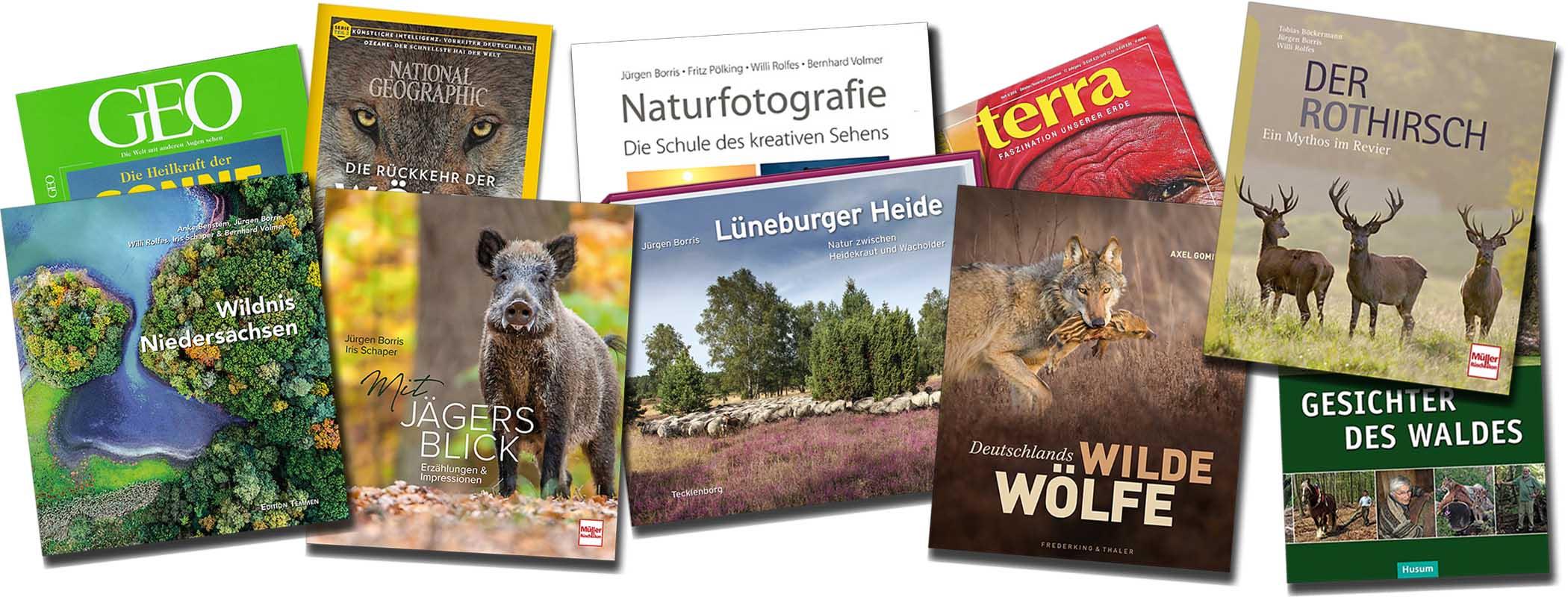 Publikationen des Naturfotografen Jürgen Borris
